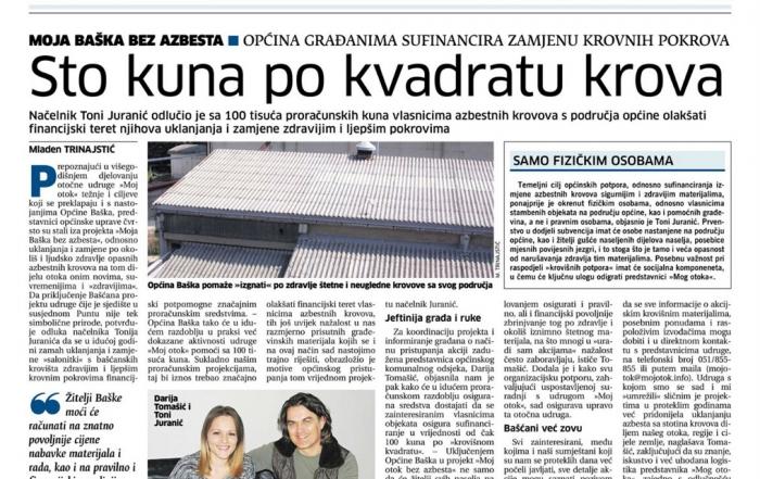 Novi List - Broj - 22261 - Moja Baška bez azbesta