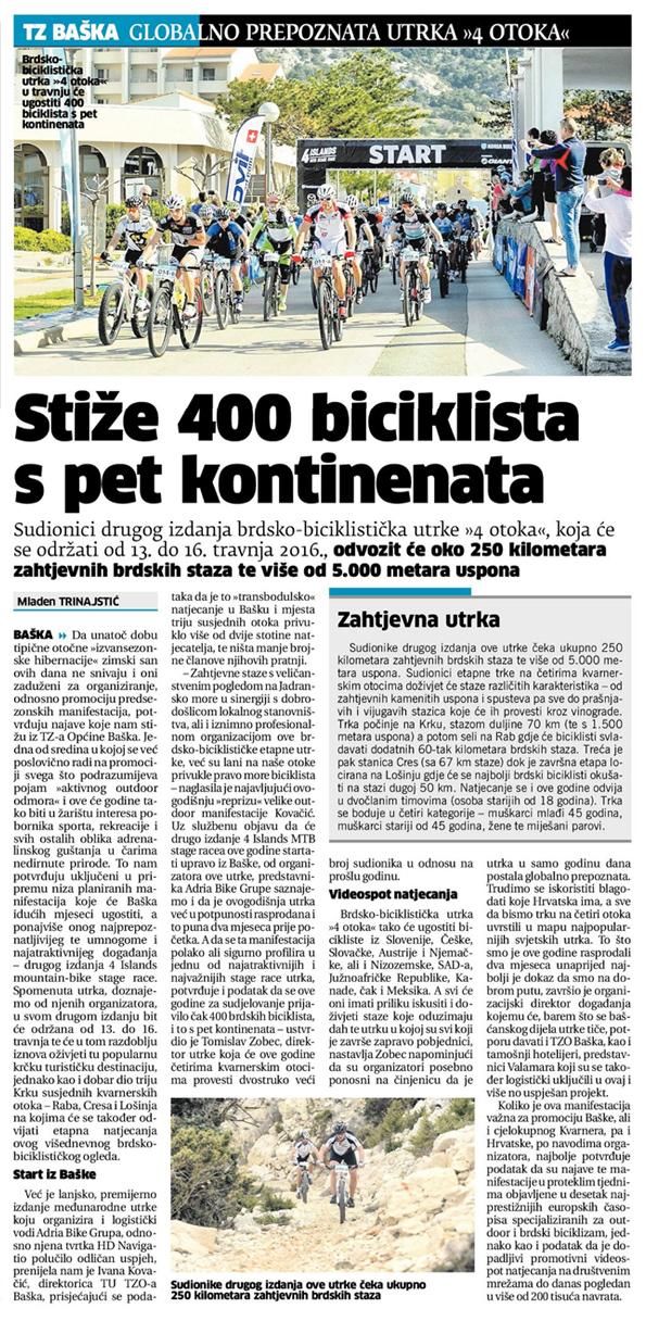 Novi-List---Broj---22356---Stiže 400 biciklista s pet kontinenata