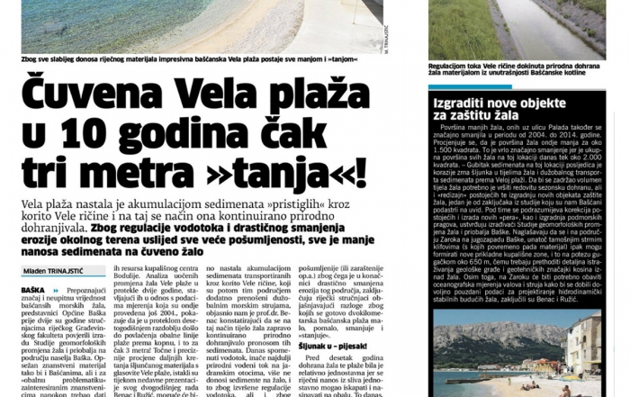 Čuvena Vela plaža u 10 godina čak 3 metra tanja